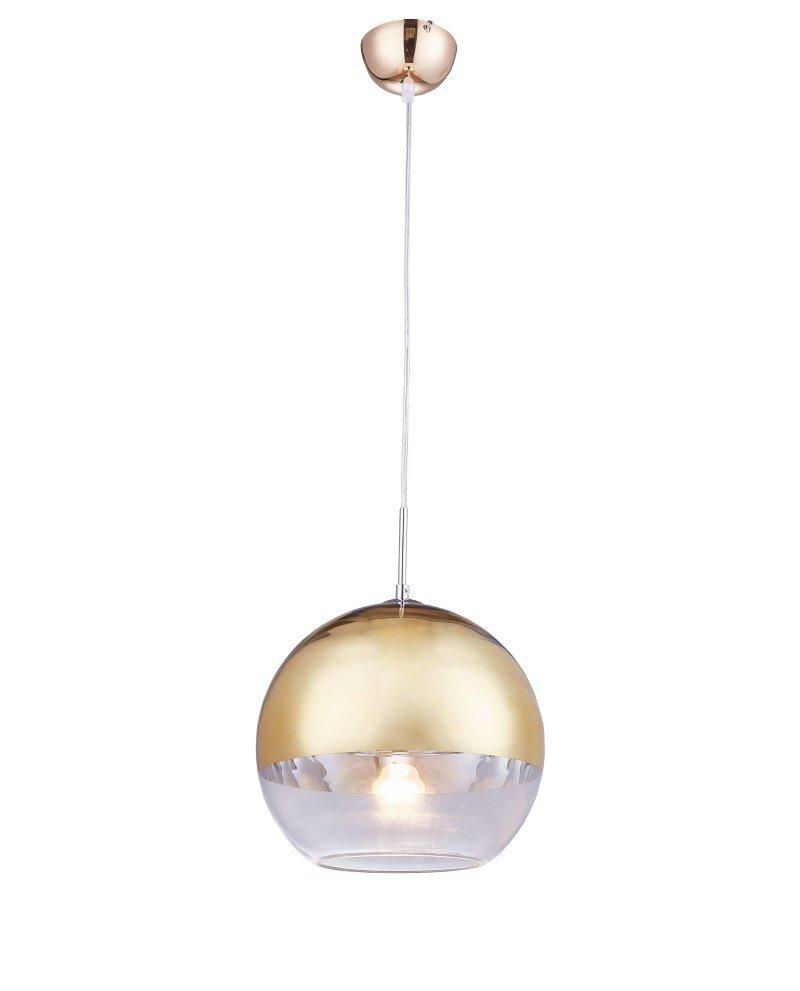 Lampadario per cucina moderno in vetro dorato D30 1 12 test