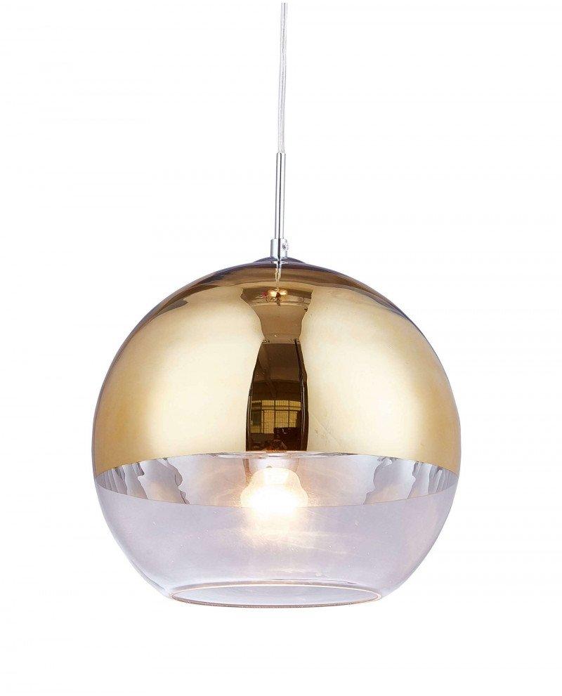 Lampadario per cucina moderno in vetro dorato D30 1 121 test