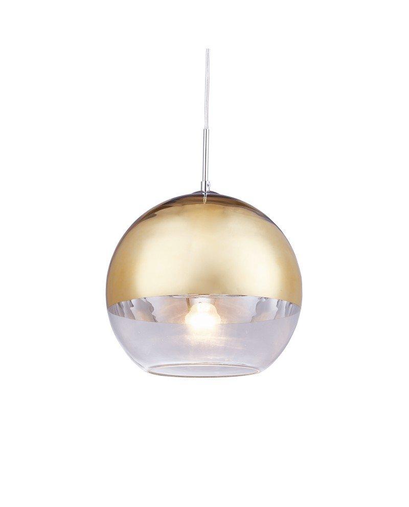 Lampadario per cucina moderno in vetro dorato D30 1 2 test