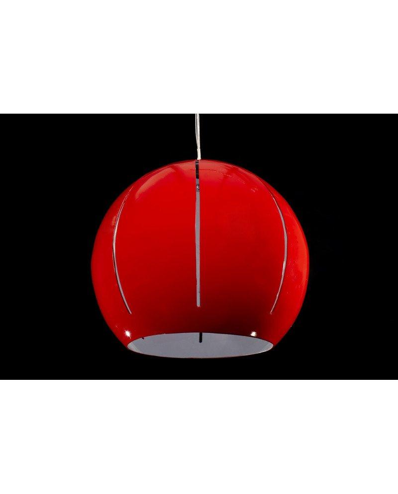 Lampadario rosso moderno 3 luci per soggiorno di design