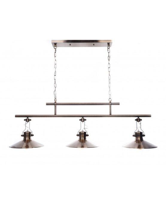 Lampadario sospensione 3 luci design Vintage industriale