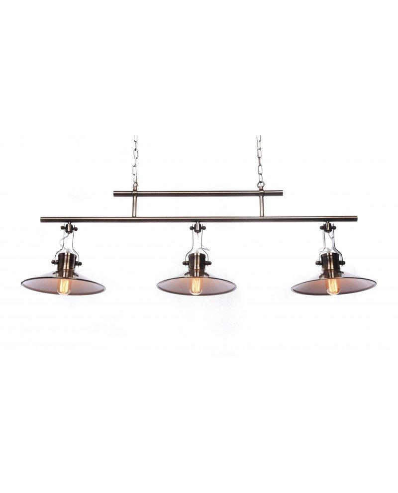 Lampadario sospensione 3 luci design Vintage industriale 12 test