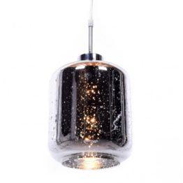 lampada a sospensione Glitter cosmo argento design moderno