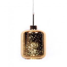 lampada a sospensione Glitter cosmo oro design moderno 1