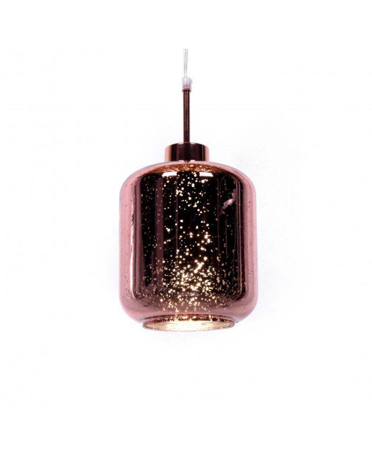 lampada a sospensione Glitter cosmo oro rosa design moderno 1