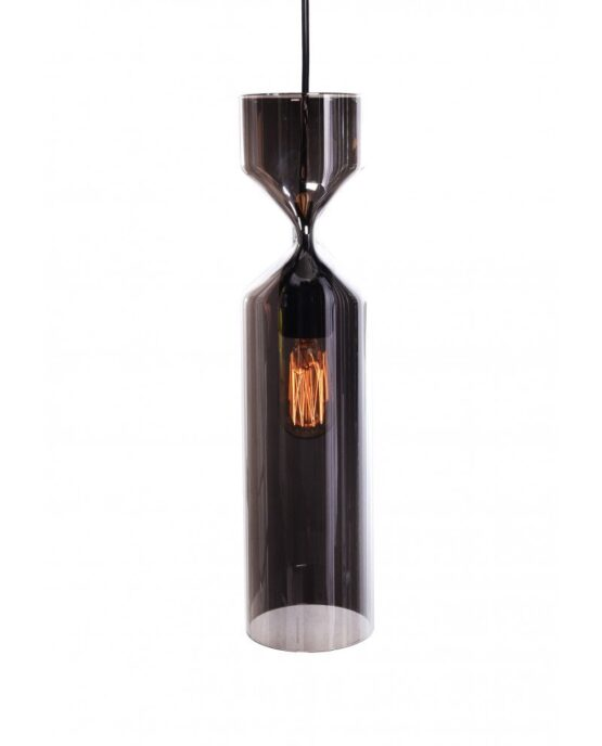lampada a sospensione di design in vetro candela