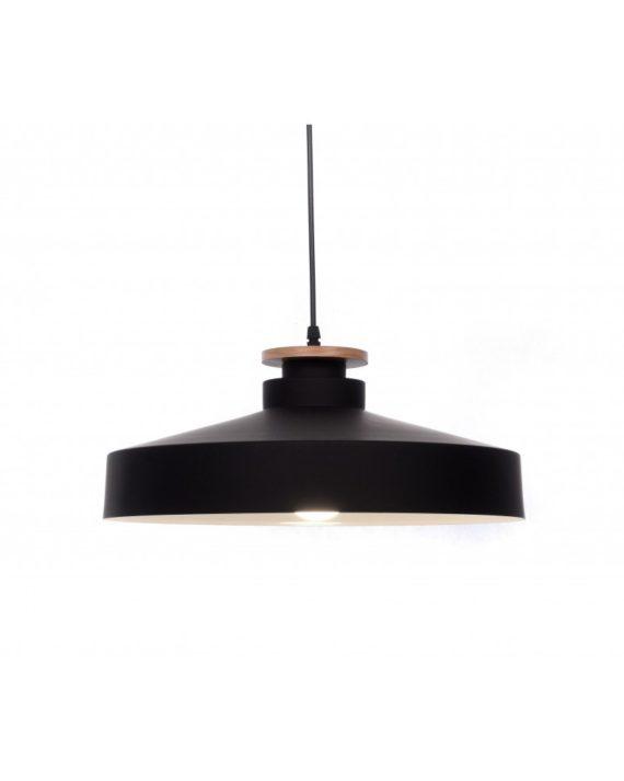 lampada a sospensione in metallo nero stile industirale