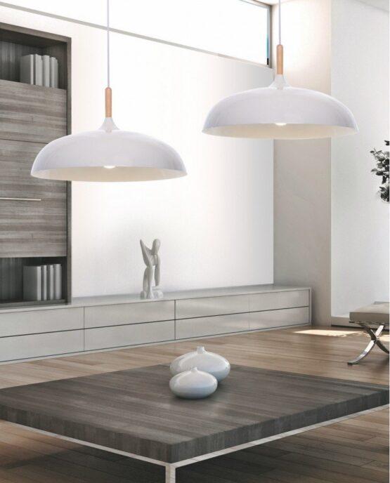 lampada a sospensione in stile colore bianco per cucina