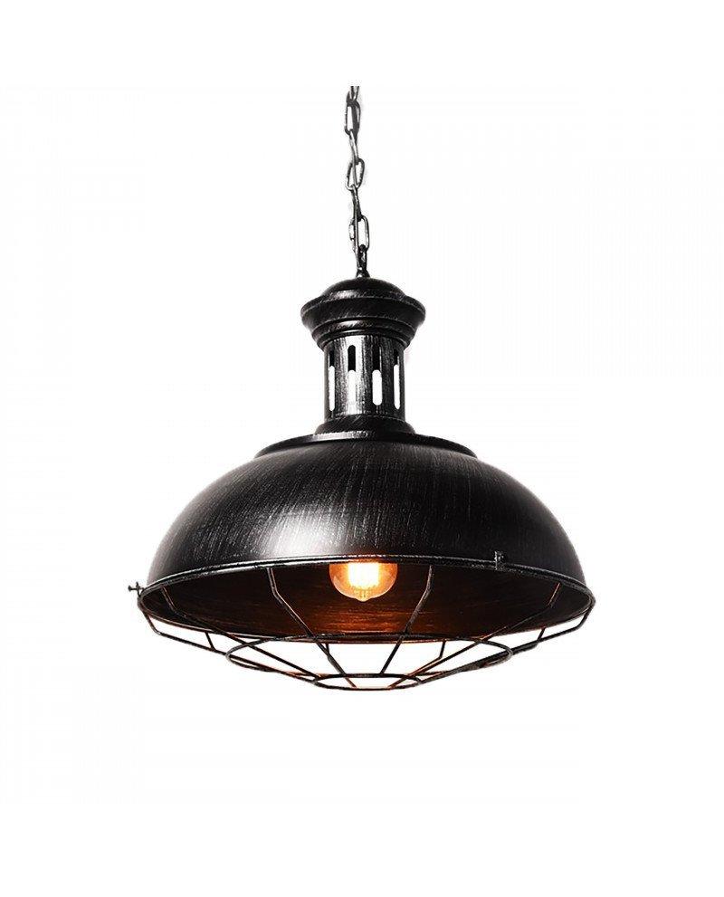 lampada a sospensione industrial Chic Boccato argento 1 test