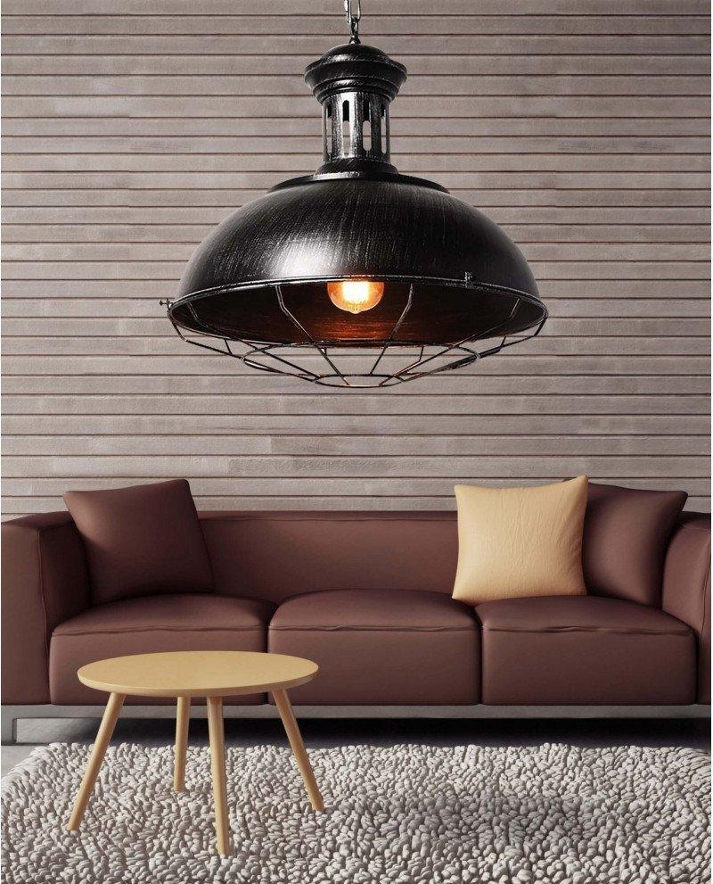 lampada a sospensione industrial Chic Boccato argento 123 test
