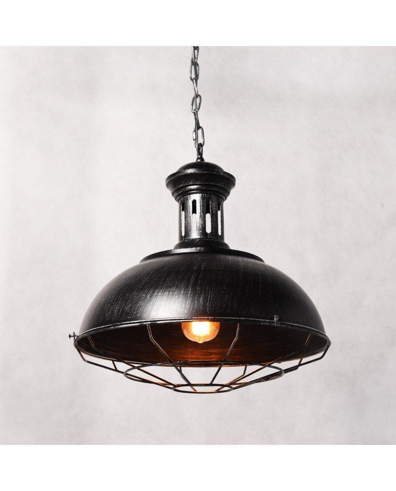 lampada a sospensione industrial Chic Boccato argento 123111 test