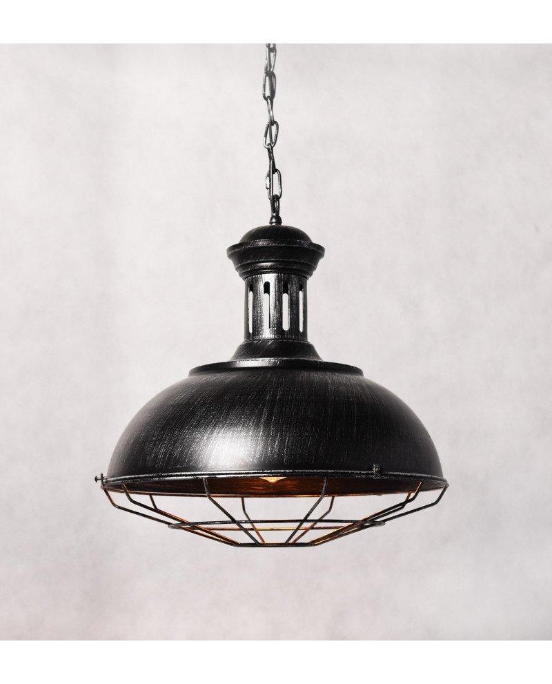 lampada a sospensione industrial Chic Boccato argento 1234 test