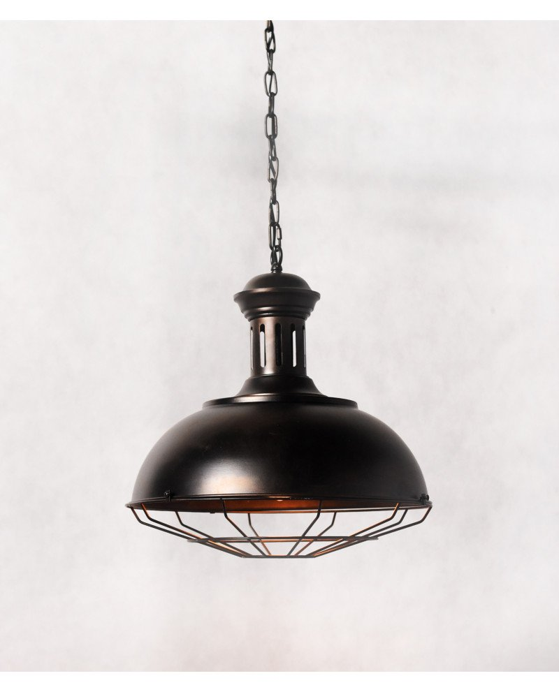 lampada a sospensione industriale vintage in ottone 122 test