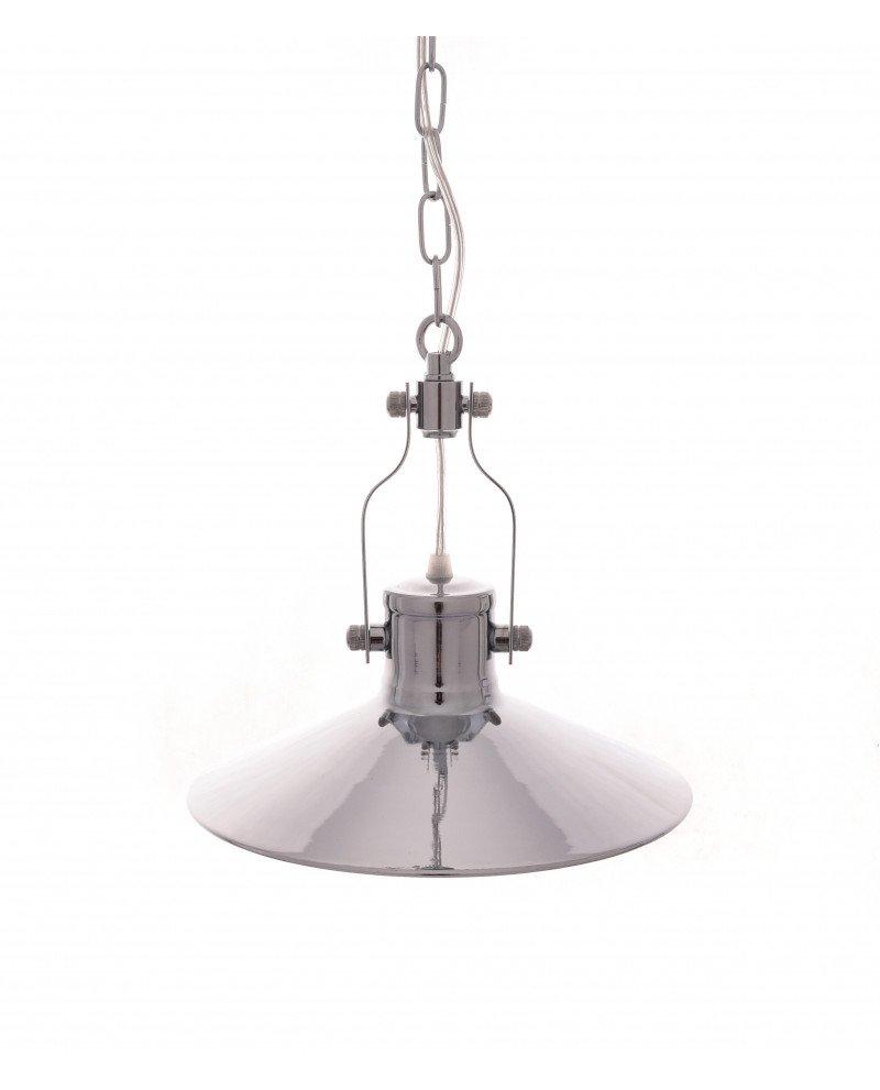 lampada a sospensione setorre metallo cromato industriale 121 test