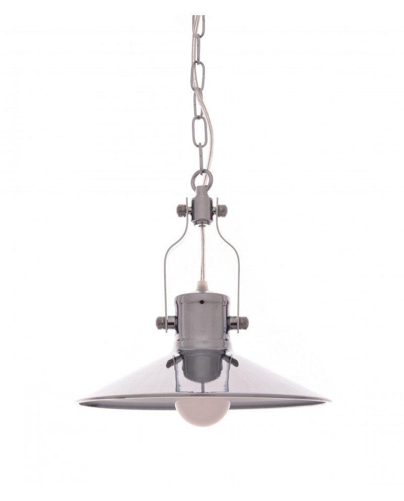 lampada a sospensione setorre metallo cromato industriale 12111 test