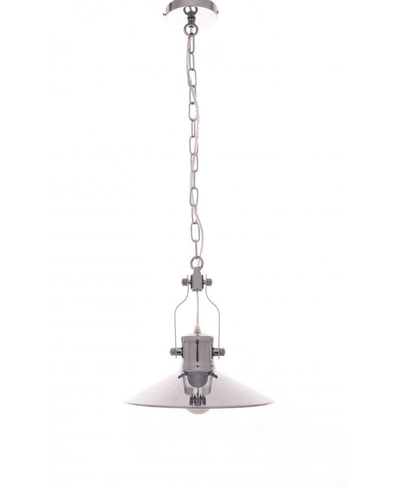 lampada a sospensione setorre metallo cromato industriale 1212 test