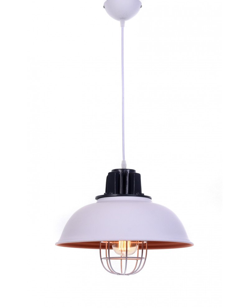 lampada a sospensione vintage in metallo vecchia marina bianca 352 test