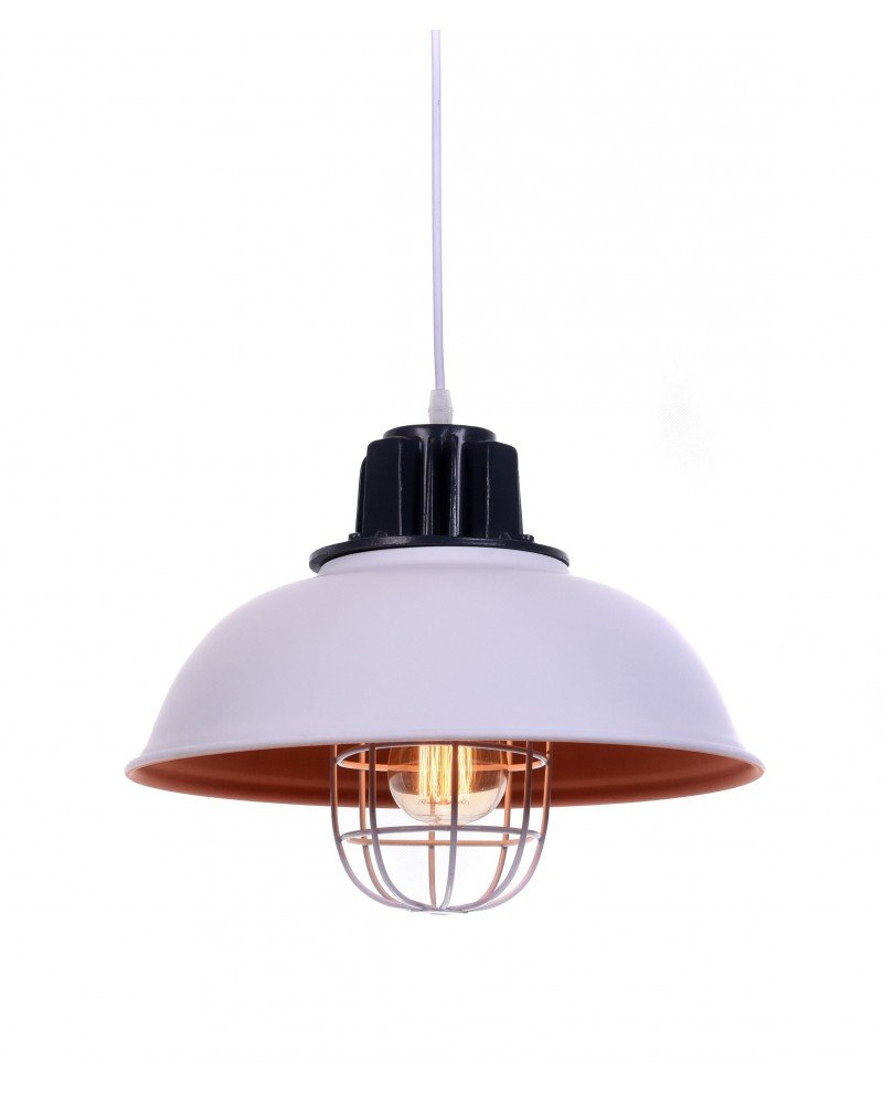 lampada a sospensione vintage in metallo vecchia marina bianca test