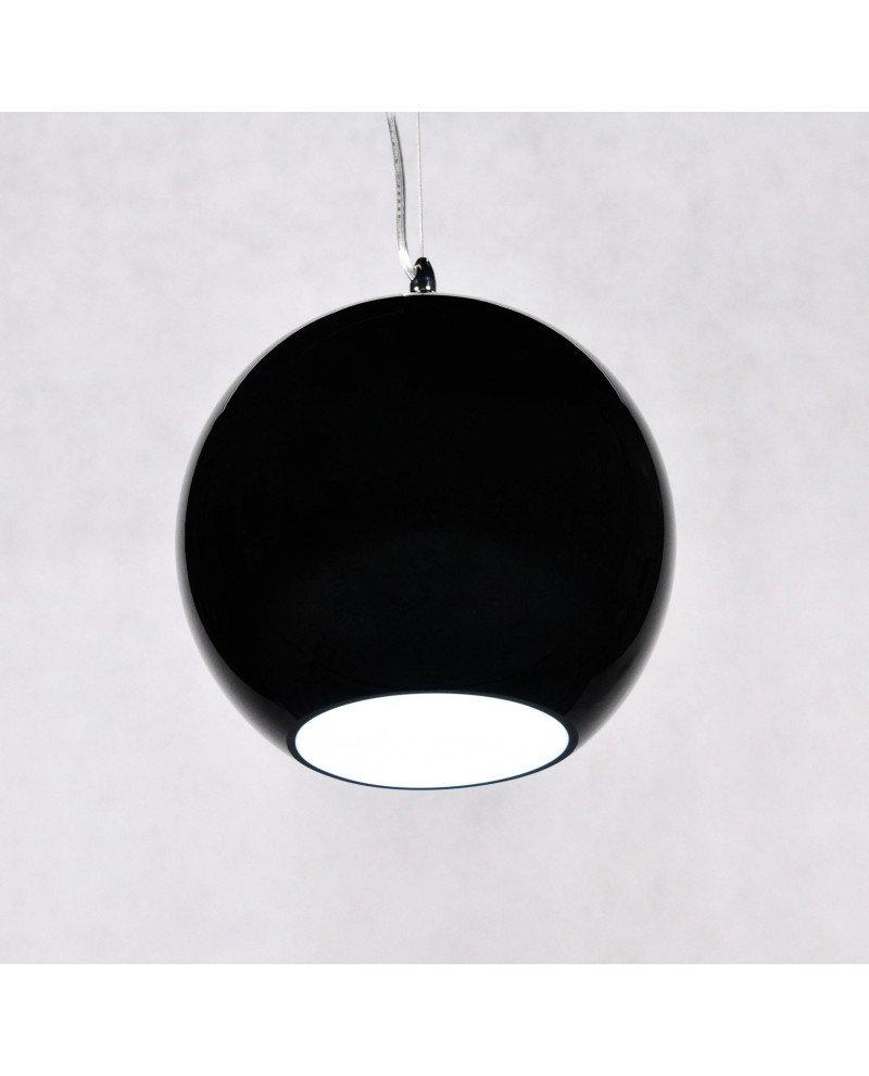 lampada anni 60 in vetro in stile vintage nera 1 test