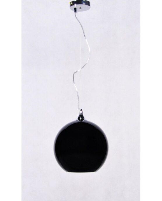 lampada anni 60 in vetro in stile vintage nera