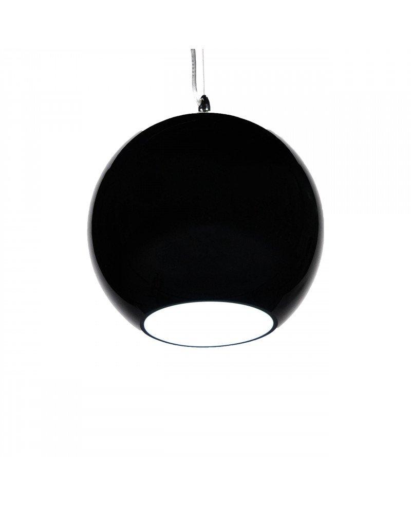 lampada anni 60 in vetro in stile vintage nera test