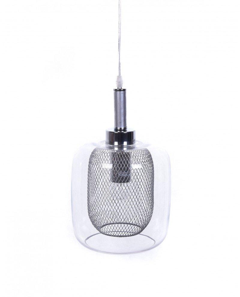 lampada da soffitto di design forma barattolo argento  1 test