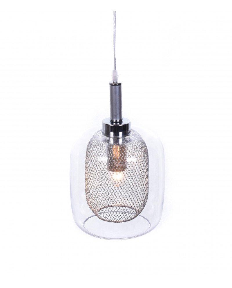 lampada da soffitto di design forma barattolo argento 6 test
