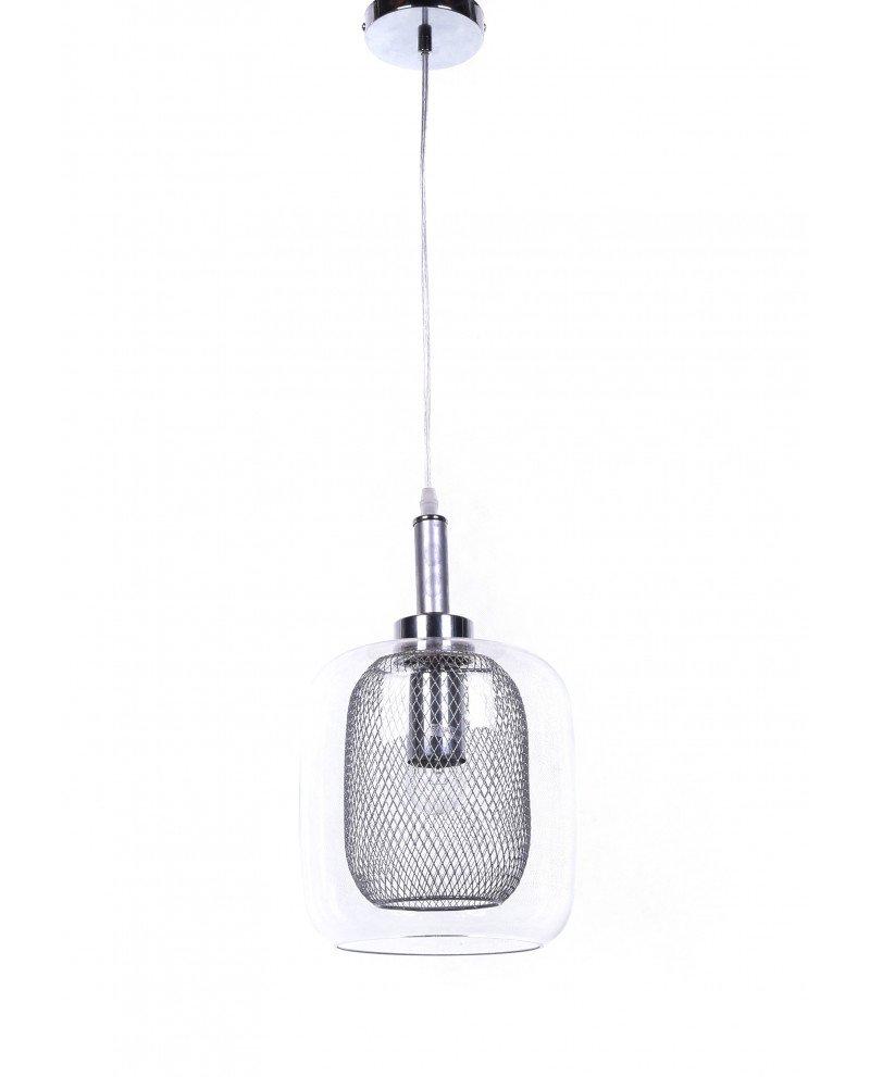 lampada da soffitto di design forma barattolo argento 7y test