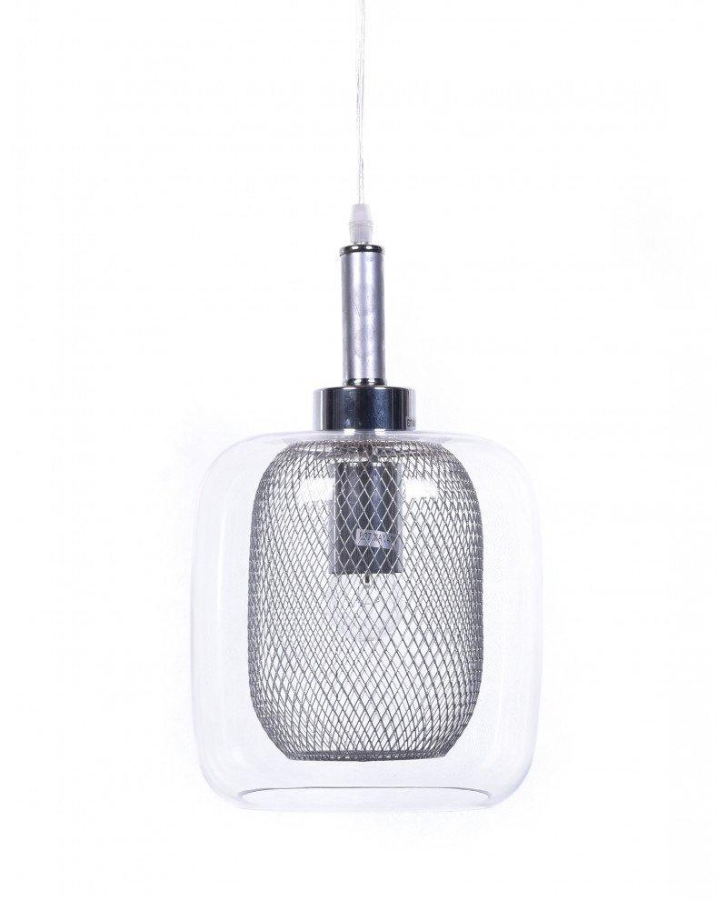 lampada da soffitto di design forma barattolo argento test
