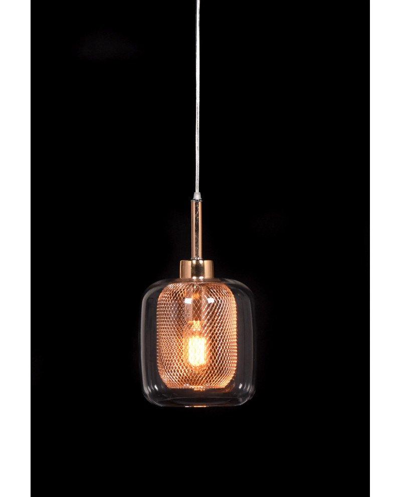 lampada da soffitto di design forma barattolo oro rosa 4 test