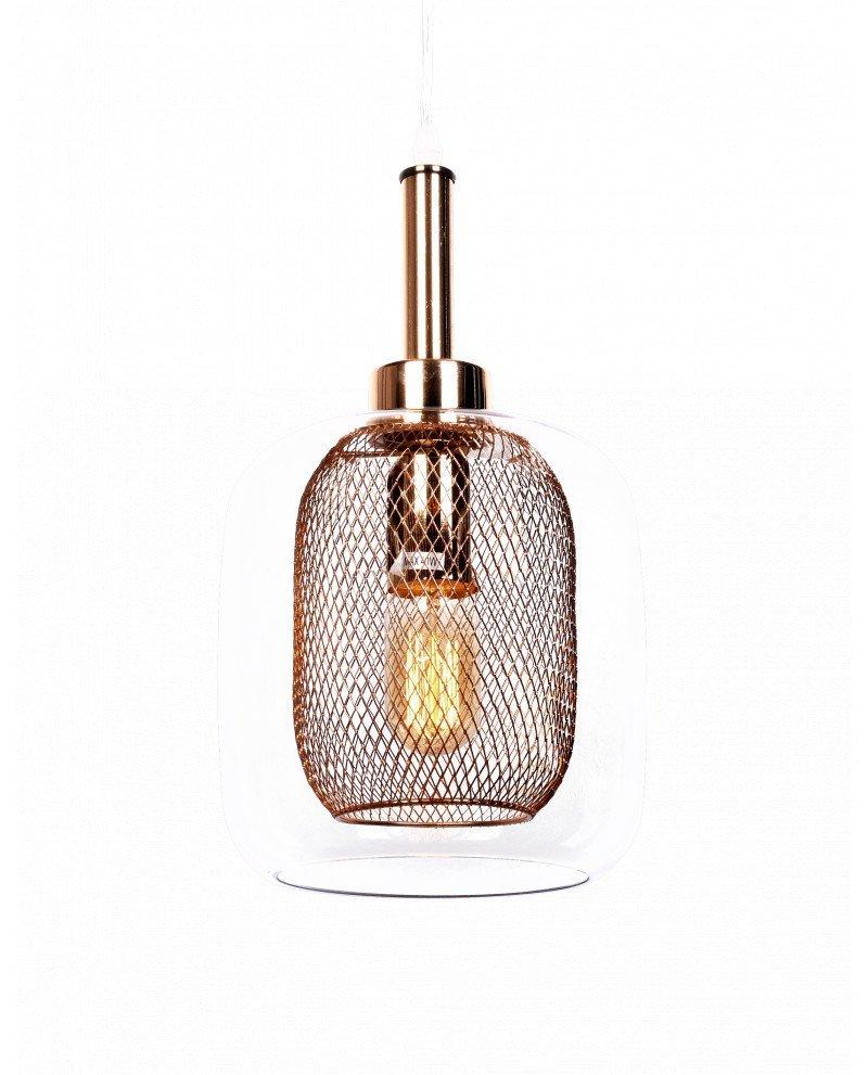 lampada da soffitto di design forma barattolo oro rosa