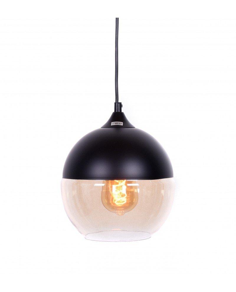 lampada da soffitto in stile industriale metallo nero test