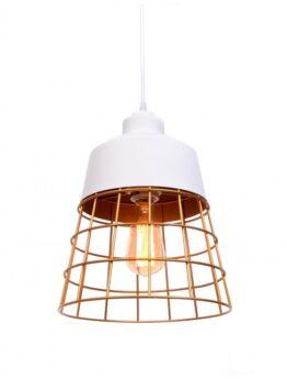 lampada da soffitto rustica in metallo bianca