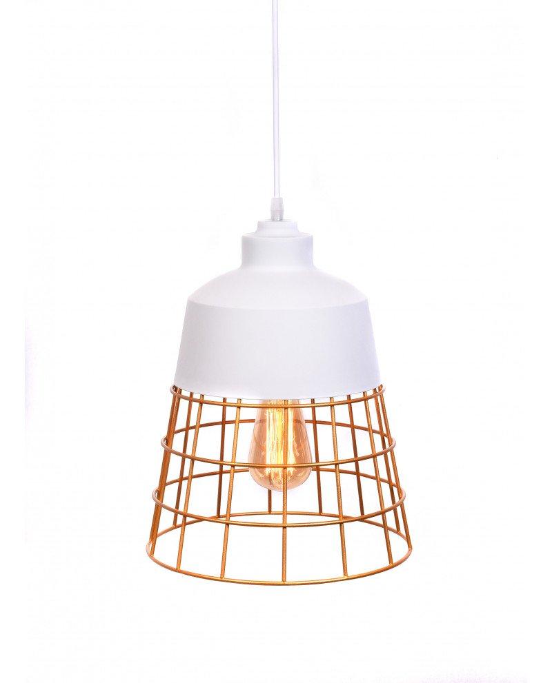 lampada da soffitto rustica in metallo bianca 6 test