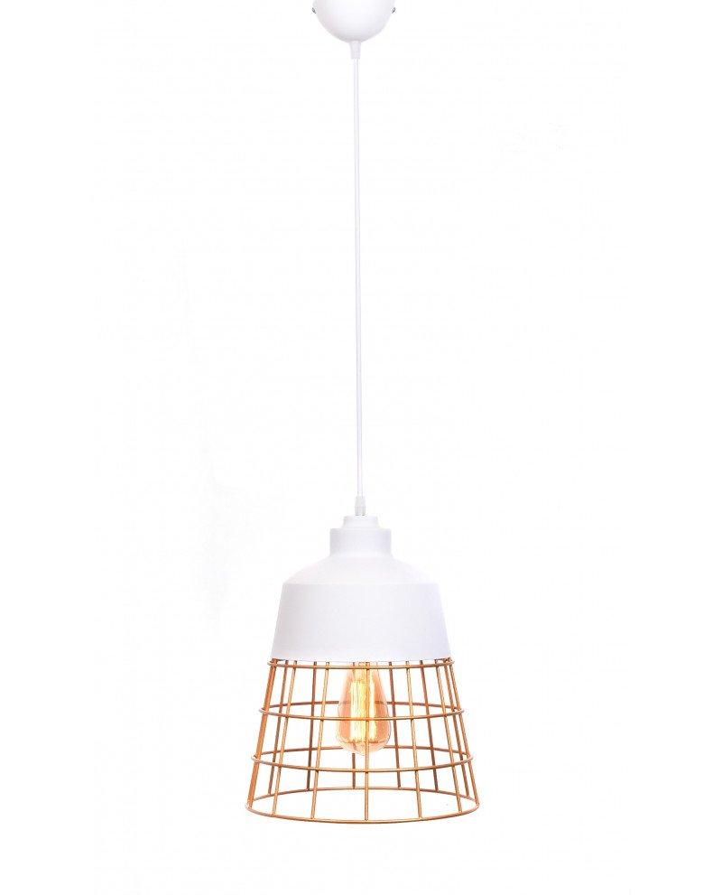 lampada da soffitto rustica in metallo bianca 7 test