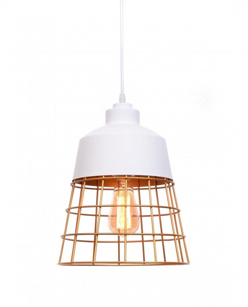 lampada da soffitto rustica in metallo bianca test