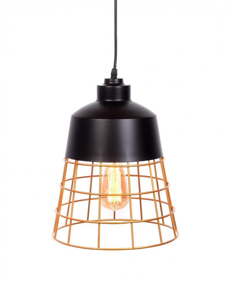 lampada da soffitto rustica in metallo nera 12 test