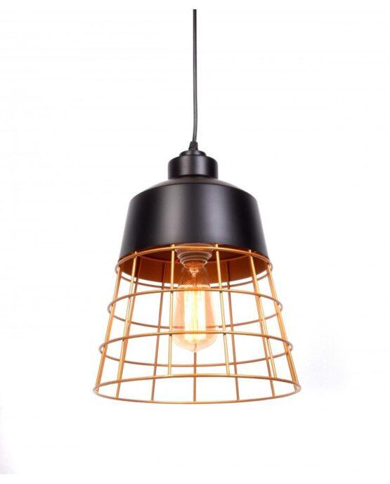 lampada da soffitto rustica in metallo nera