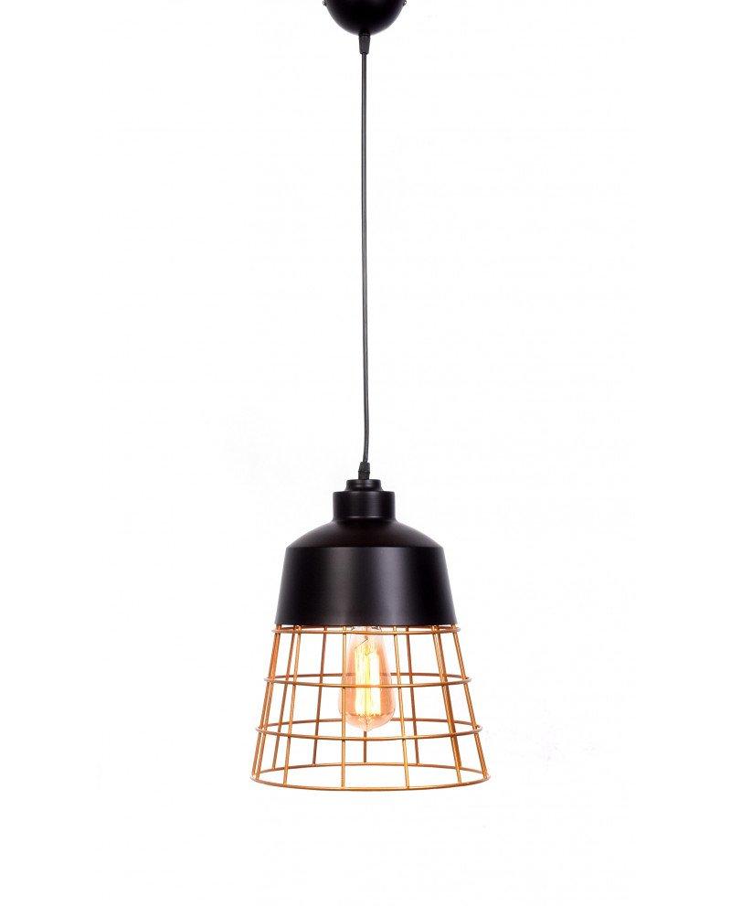 lampada da soffitto rustica in metallo nera 6 test