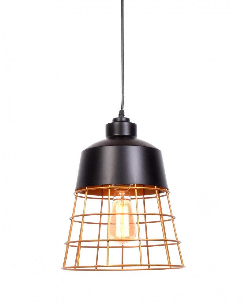 lampada da soffitto rustica in metallo nera test