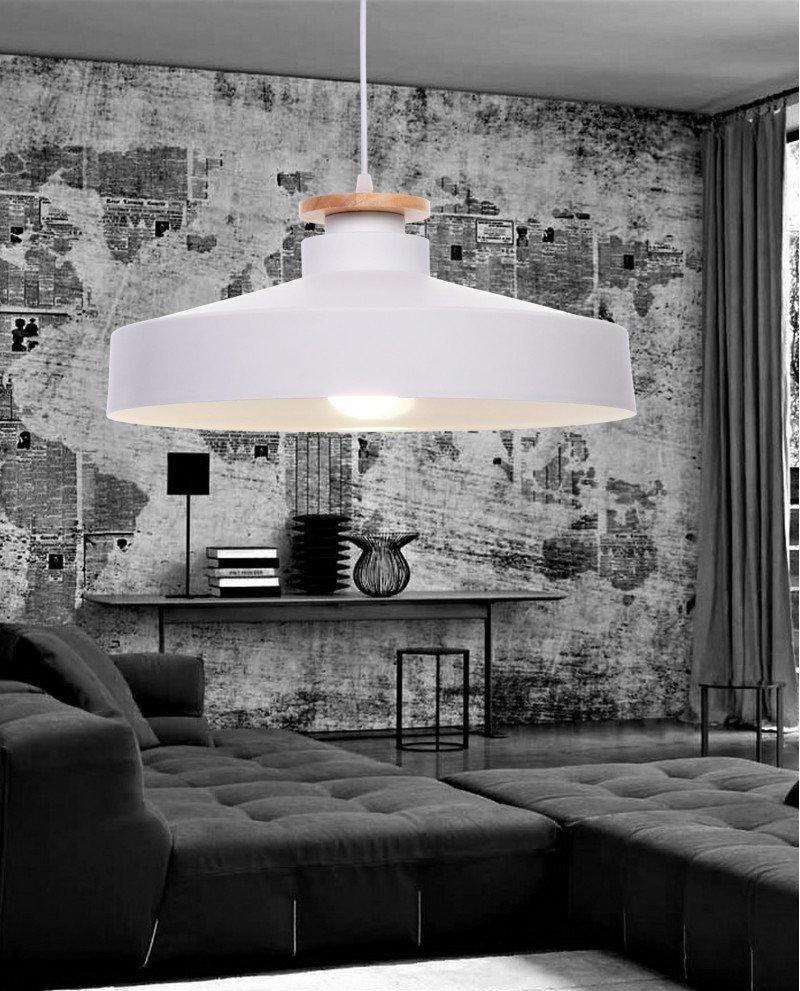 lampada da soffitto scandinava industriale metallo bianco 1 test