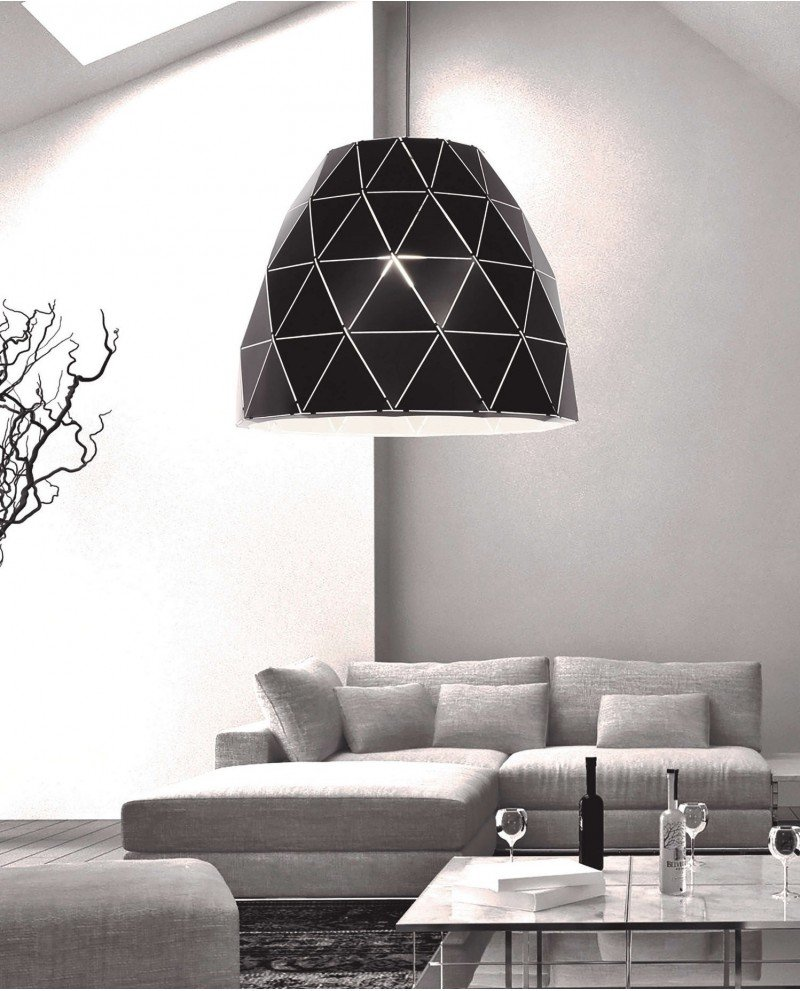 lampada design moderno contemporaneo dukka nera 1 test