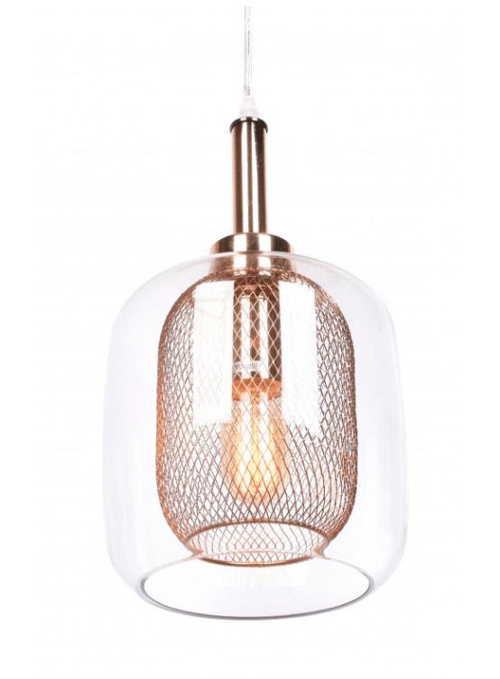 lampade design vetro stile moderno con doppio paralume
