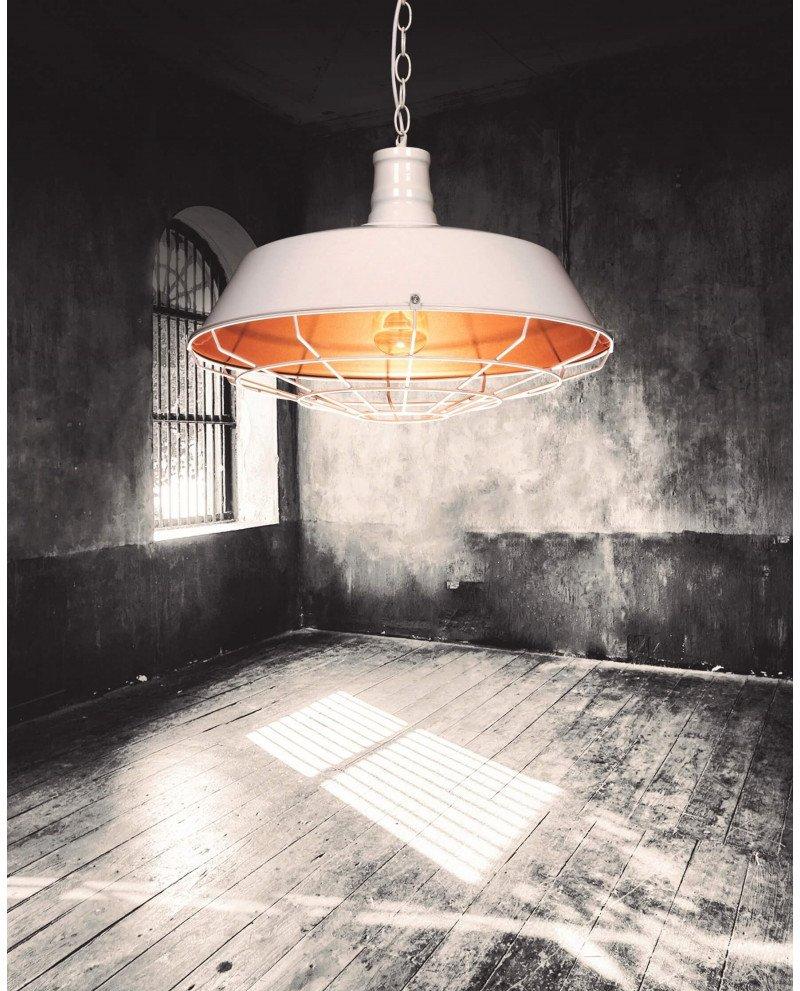 lampada in stile industriale per illuminazione vintage bianca 1 test