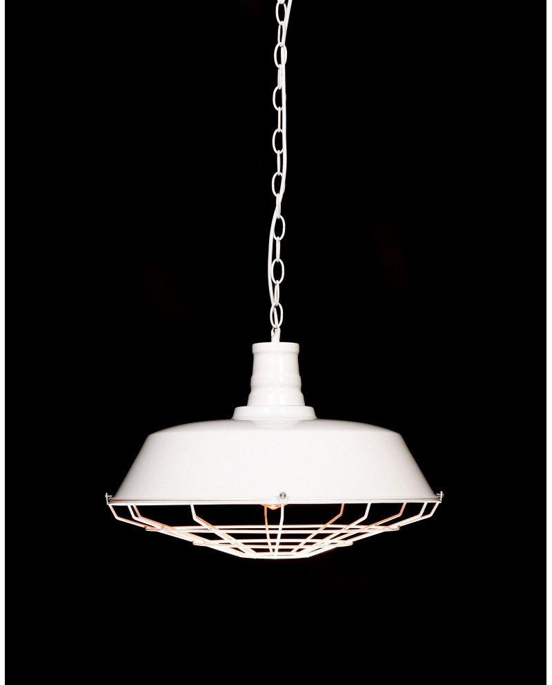 lampada in stile industriale per illuminazione vintage bianca 11 test