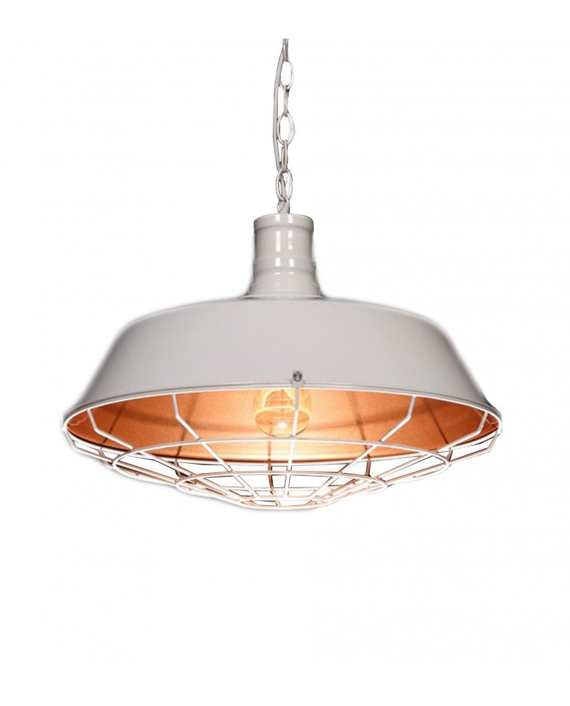 lampada in stile industriale per illuminazione vintage bianca 122 test