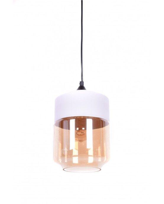 lampada industriale vetro e metallo colore bianco