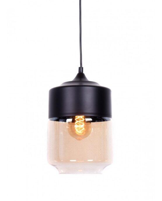 lampada industriale vetro e metallo colore nero