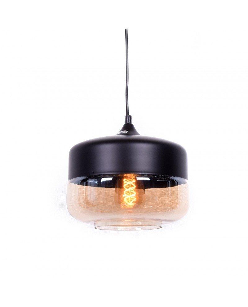 lampada industriale vintage vetro nera a sospensione nera 123 test