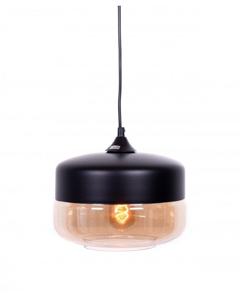 lampada industriale vintage vetro nera a sospensione nera 211 test